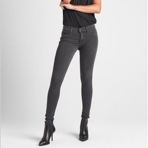 Hudson Nico Midrise Super Skinny Gray Jeans